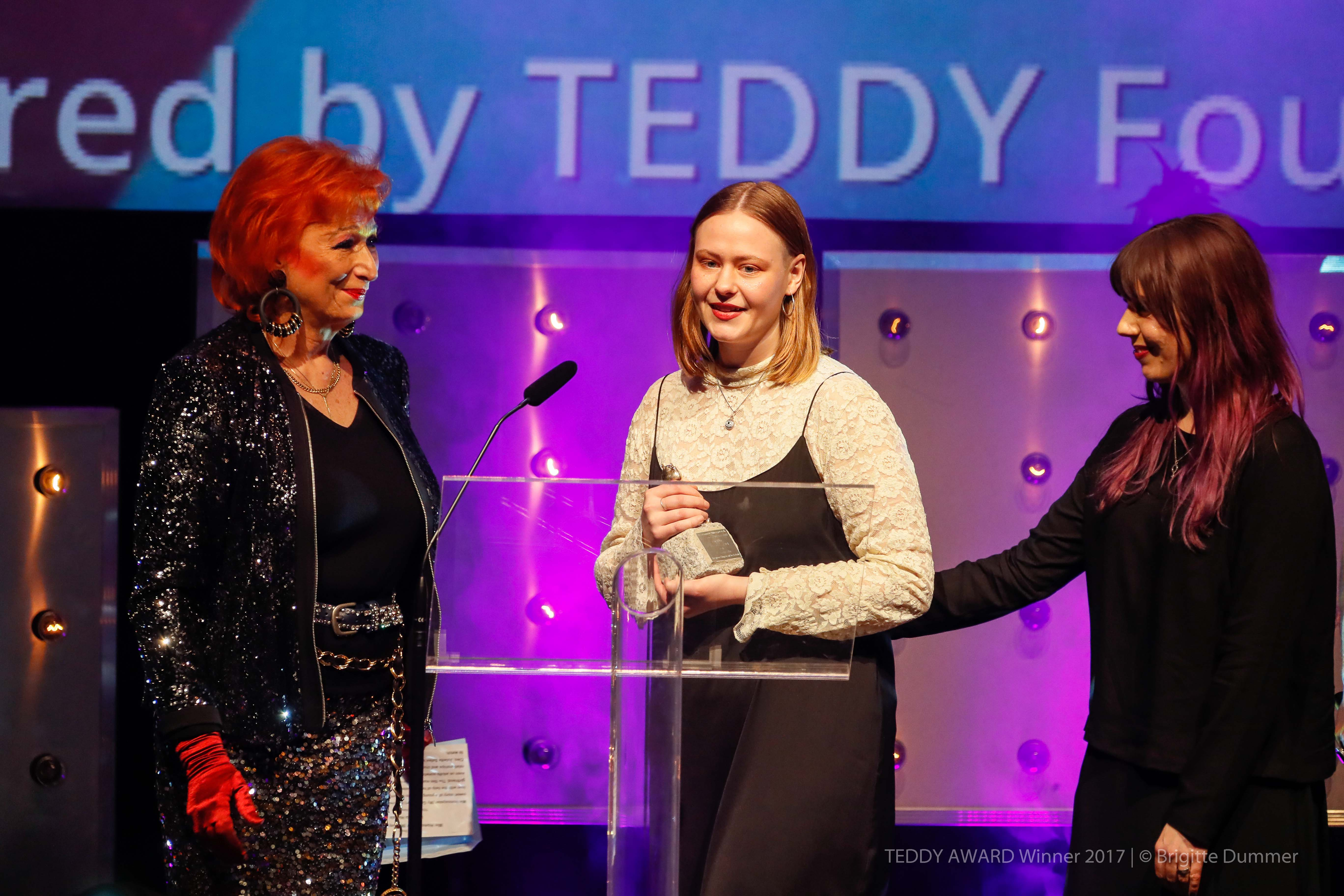 "Zazie de Paris, actress, TEDDY AWARD winner 2017 Lia Hietala, director ""My Gay Sister""-Best Short Film"