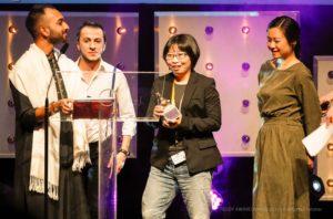 "Saif Can and Yavuz Kurtulmus from Transition | International Queer Minorities Film Festival, TEDDY AWARD winner Hui-chen Huang, director ""Small Talk""-Best Documentary Film"