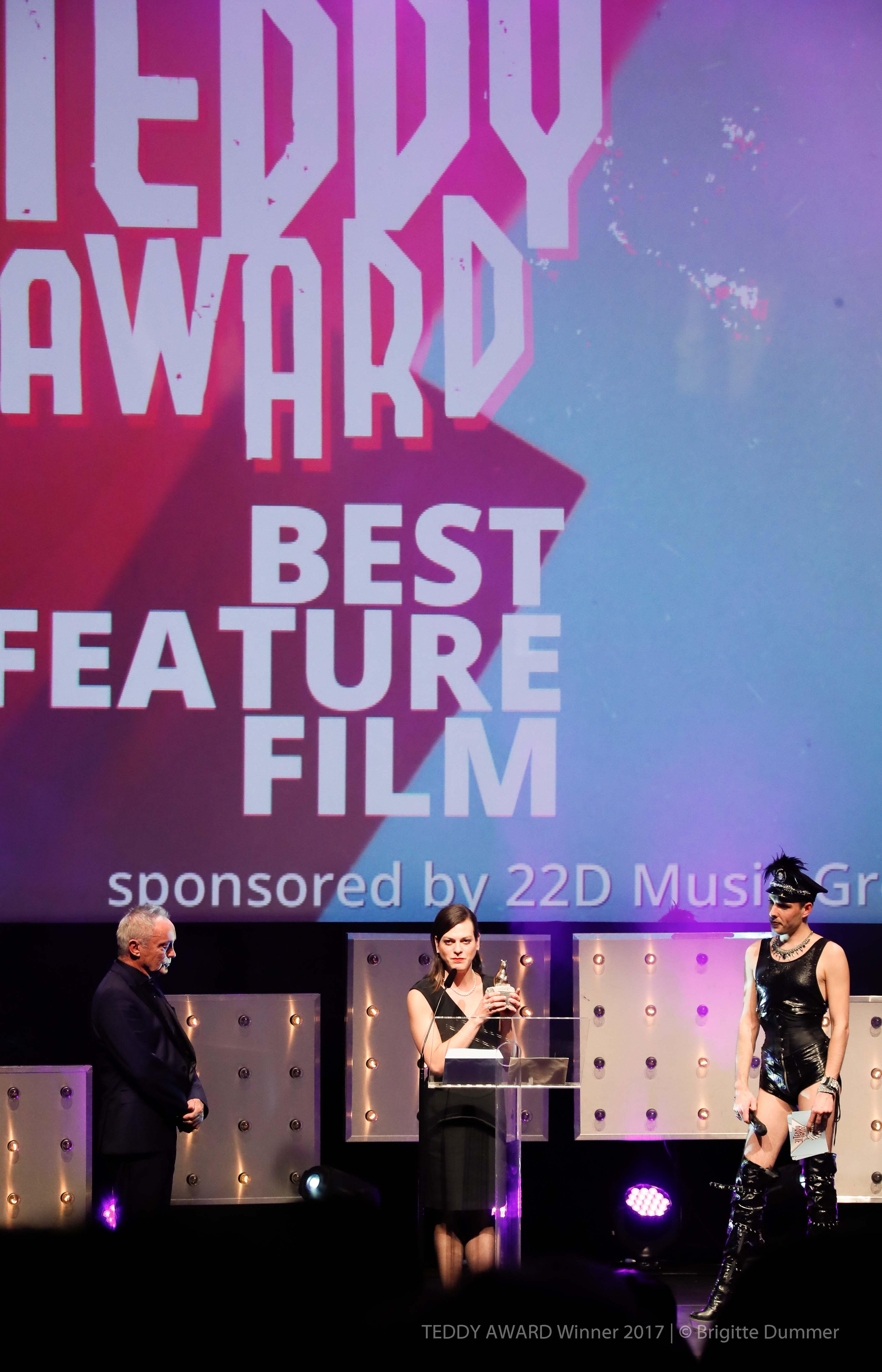 "Udo Kier, actor, Daniela Vega, actress ""A phantastic Woman"", Best Feature Film, Jack Woodhead, Host"