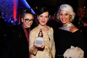 "Paz Lazaro, Programme Manager Berlinale Panorama, Daniela Vega, actress ""A phantastic Woman"", Best Feature Film, guest"