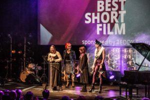 "TEDDY AWARD winner 2017 Lia Hietala, Director ""My Gay Sister""-Best Short Film, Zazie de Paris, Actress, guest, Jack Woodhead, Host"